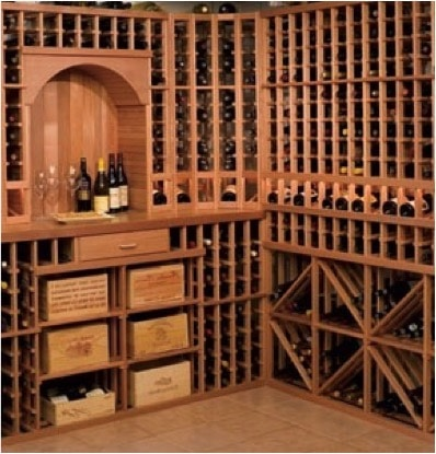Wine Cellar Rack Construction Builders by Arctic Metalworks in California
