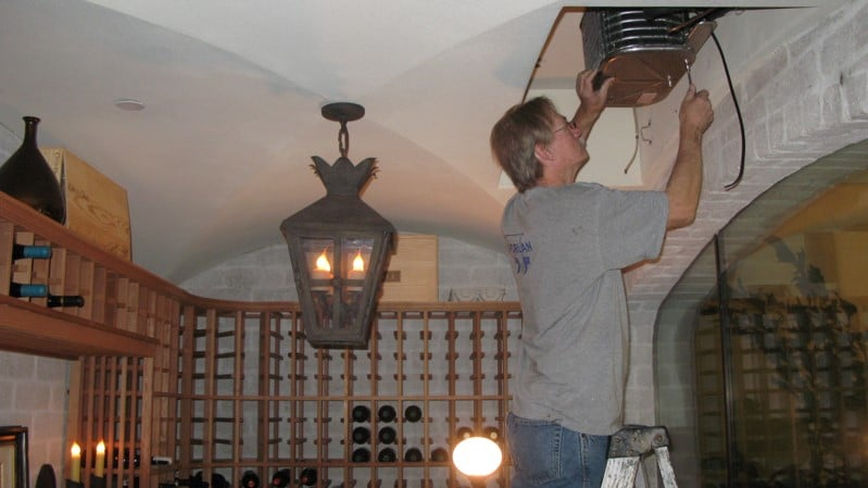 San Clamente California Underpowered and Incorrectly Installed Wine Cellar Refrigeration Equipment Put Right