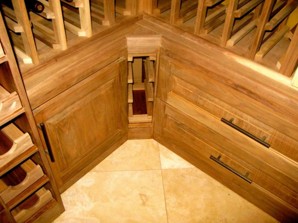 Custom wine cellar construction by Arctic Metalworks in Orange County California