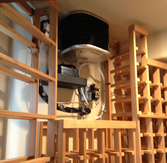 Installation Project - Wine Cellar Cooling Unit for a Residential Wine Room Aliso Viejo - Case Study