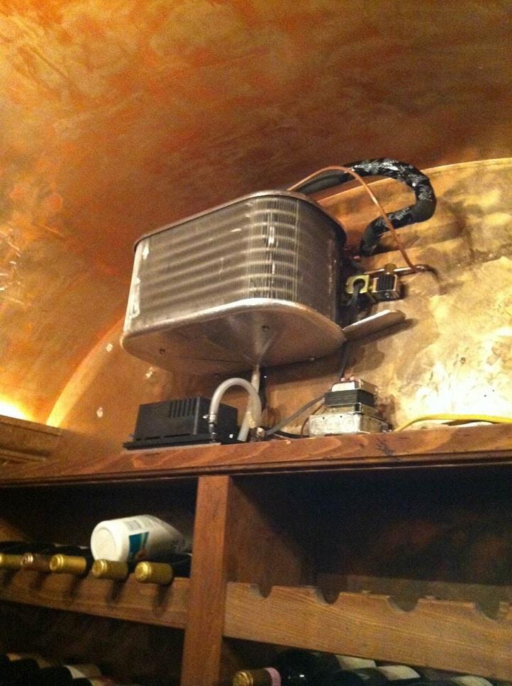 California Residential Wine Cellar Cooling Installation