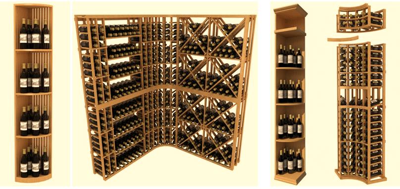 Wooden Kit Wine Racks - Single Bottle Storage