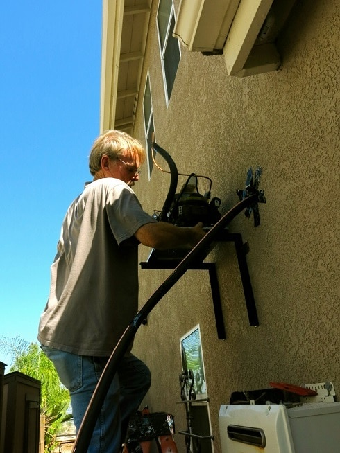 Installing the Condensing Unit Outside - Wine Cellar Coolling System Aliso Viejo