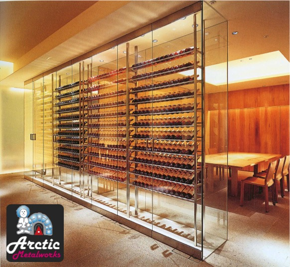 Wine Cellar Cooling Systems by Arctic Metalworks in Orange County