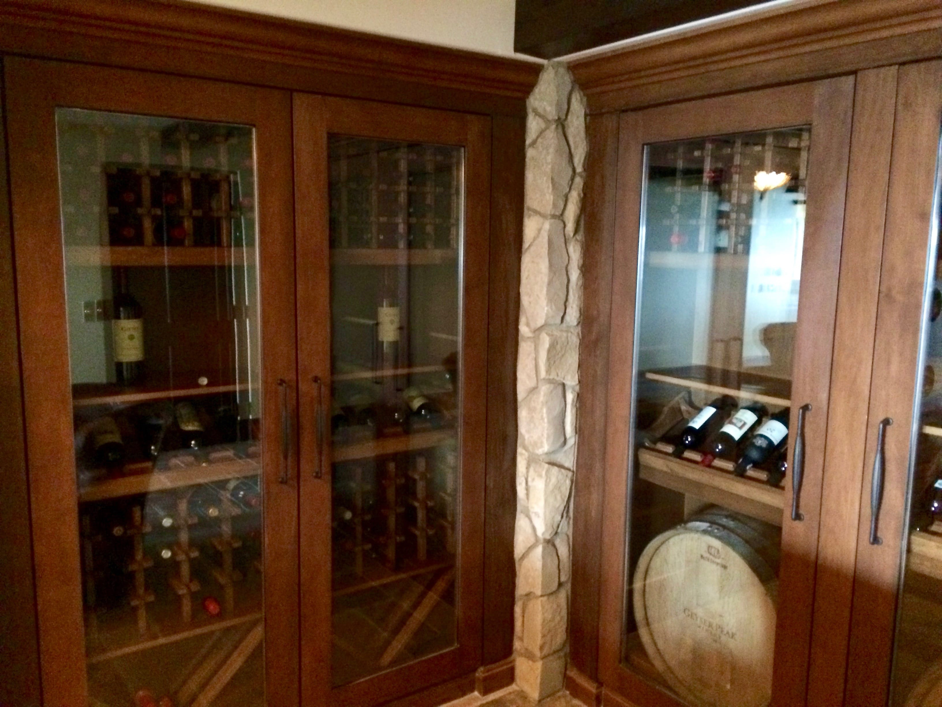 Wine cellar built by Arctic Metalworks