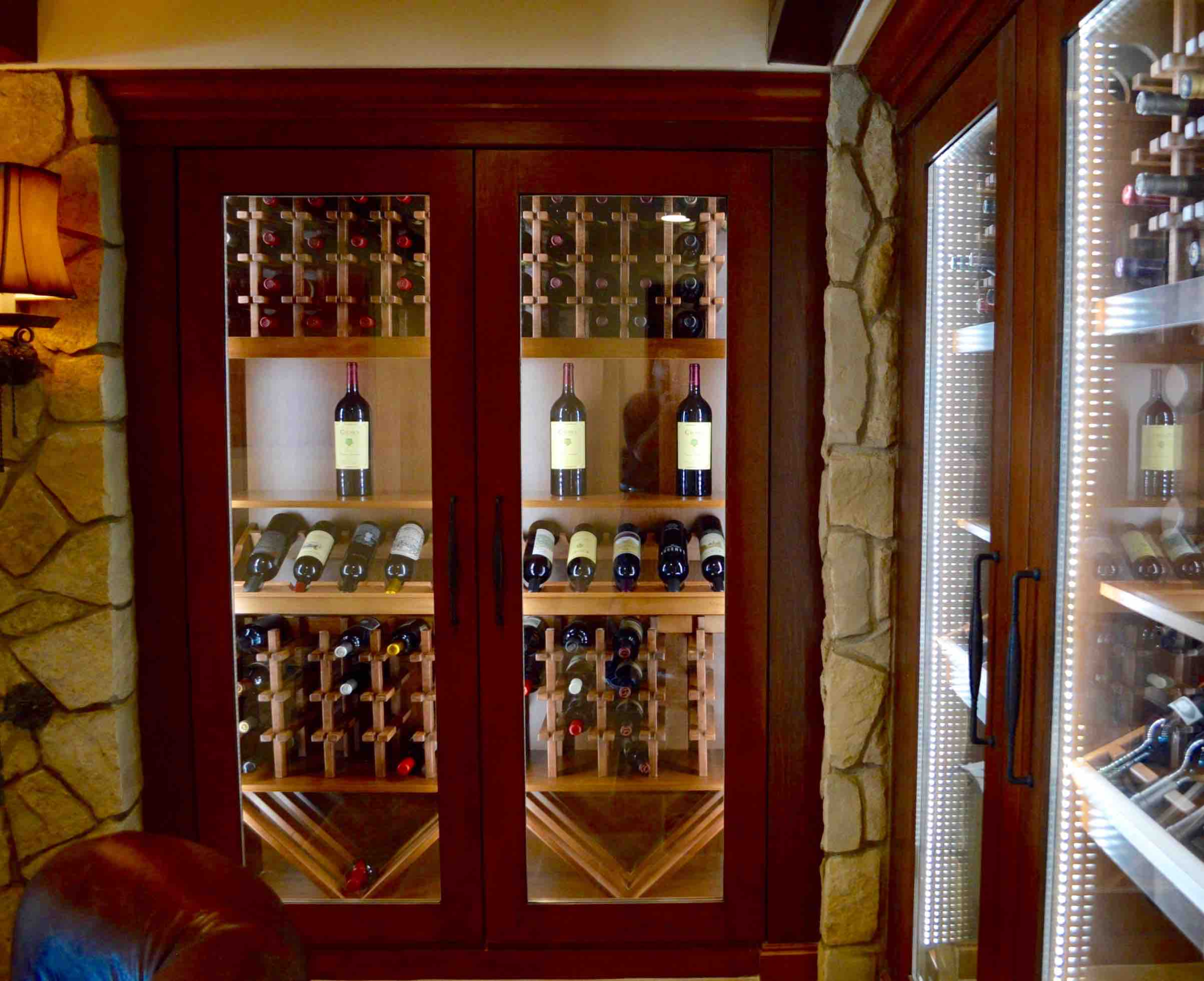 Laguna Beach California WINE CELLAR CABINETS & SPEAK to a **California** Custom Wine Cellar Builder