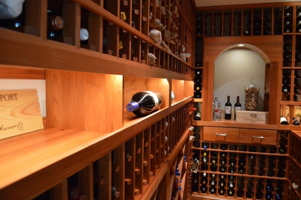 wine racking shelves large format bottles