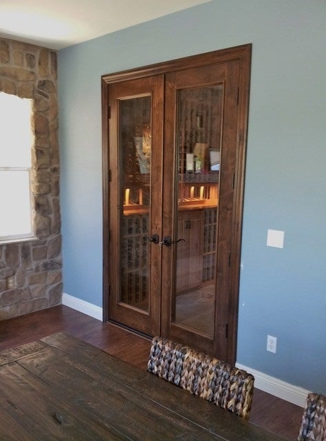 The final touch when building a wine cellar - solid, tight-fitting doors.